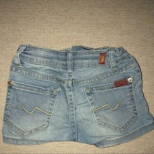 7 for all mankind girl's denim shorts